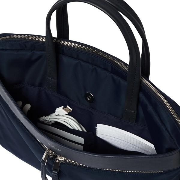 Mayfair, 119-101-BLZ, Hanover , dark navy blazer, front pocket open, 1MB