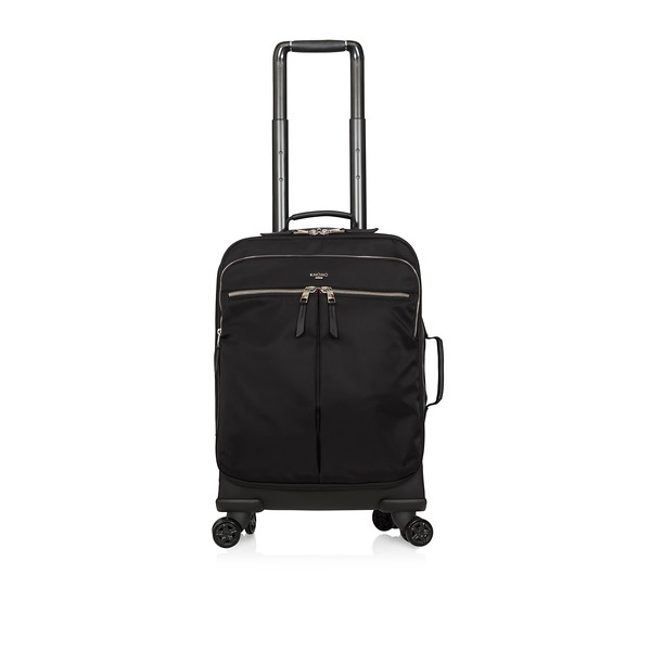 """AW18 Mayfair Park Lane Luggage 15"""" 119-805-BSN Font with Handle Up"""