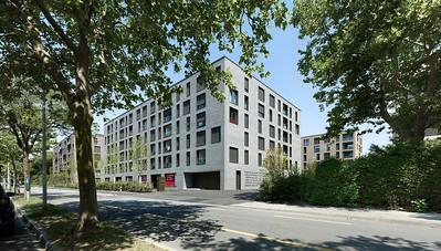 02 Haus C: Ansicht von der Weltpoststrasse | House C: view from Weltpoststrasse road