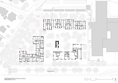 Plan 02 Erdgeschoss mit Umgebung | Ground floor and surrounding environment