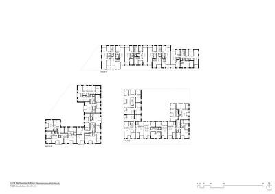 Plan 04 Regelgeschoss alle Gebäude | Standard floor plan of all buildings