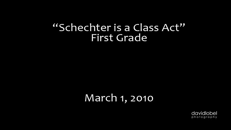 2010-03-01 SSDS Schechter is a Class Act First Grade