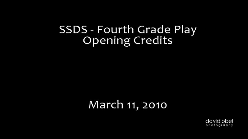 SSDS Fourth Grade Play - Opening Credits