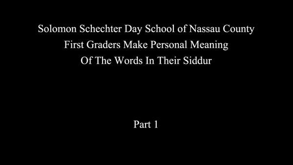 2011-03-16 SSDS - First Grade Siddur Interviews