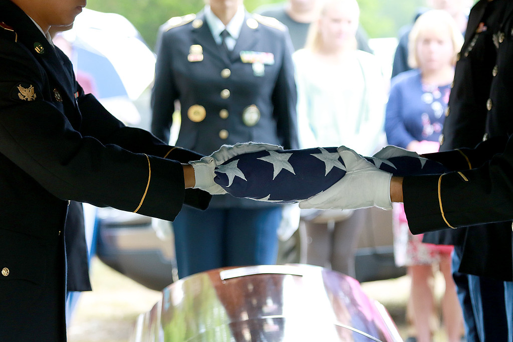 . On Saturday June 23, 2018 WWII  veteran SSG Roy F. Davis was final put to rest in the Glenwood Cemetery in Ashby. He died on March 12, 1944. It took 74 years for him to come home. A flag that was on Davis\' casket was folded by the Army National Guard Honor Guard out of Hanscom Air force base during the ceremony. SENTINEL & ENTERPRISE/JOHN LOVE