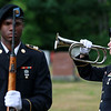 On Saturday June 23, 2018 WWII  veteran SSG Roy F. Davis was final put to rest in the Glenwood Cemetery in Ashby. He died on March 12, 1944. It took 74 years for him to come home. Sgt Deven Klem with the MA. Military Funeral Honors for the United States Army plays taps during the funeral for Davis. SENTINEL & ENTERPRISE/JOHN LOVE