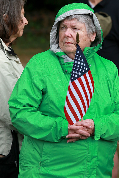 On Saturday June 23, 2018 WWII  veteran SSG Roy F. Davis was final put to rest in the Glenwood Cemetery in Ashby. He died on March 12, 1944. It took 74 years for him to come home. Judy Kierce from Ringe N.H. who grew up in Ashby listens to taps as it is played for Davis during the funeral. SENTINEL & ENTERPRISE/JOHN LOVE