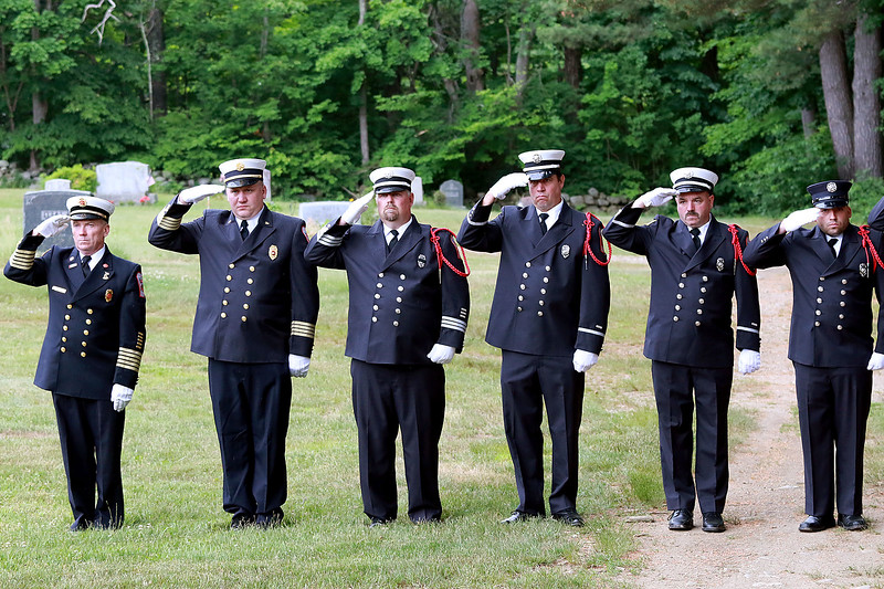 On Saturday June 23, 2018 WWII  veteran SSG Roy F. Davis was final put to rest in the Glenwood Cemetery in Ashby. He died on March 12, 1944. It took 74 years for him to come home.Members of the Ashby Fire Department salute as the casket holding the remains of Davis was brought to its final resting place in the cemetery. SENTINEL & ENTERPRISE/JOHN LOVE