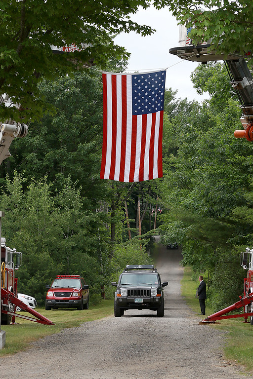 . On Saturday June 23, 2018 WWII  veteran SSG Roy F. Davis was final put to rest in the Glenwood Cemetery in Ashby. He died on March 12, 1944. It took 74 years for him to come home. The Ashby Fire Department put up a flag over the driveway into the cemetery. SENTINEL & ENTERPRISE/JOHN LOVE