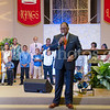 Reverend Al Sharpton preaches at Southern Saint Paul Church in Los Angeles