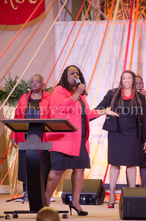 Evangelist Linda Armstrong preaches