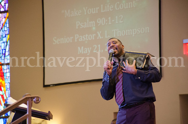 Sr. Pastor Xavier L. Thompson preaches at Southern Saint Paul's South Campus