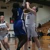 St. Bernard's Central Catholic High School girls basketball played Worcester Technical High School Wednesday, Jan. 8, 2020. St. B's #11 Brooke Senatore tries to get off a shot by WTHS's #24 Tamera Lidonde. SENTINEL & ENTERPRISE/JOHN LOVE