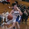 St. Bernard's Central Catholic High School girls basketball played Worcester Technical High School Wednesday, Jan. 8, 2020. St. B's #11 Brooke Senatore is fouled by a WTHS player. SENTINEL & ENTERPRISE/JOHN LOVE