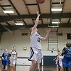 St. Bernard's Central Catholic High School girls basketball played Worcester Technical High School Wednesday, Jan. 8, 2020. St. B's #12 Kaitlyn Boissoneau outs up a shot. SENTINEL & ENTERPRISE/JOHN LOVE