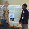 Duane Carver explains his summer research to Ian Yesilonis