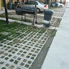 Permeable pavers in off alley private house parking