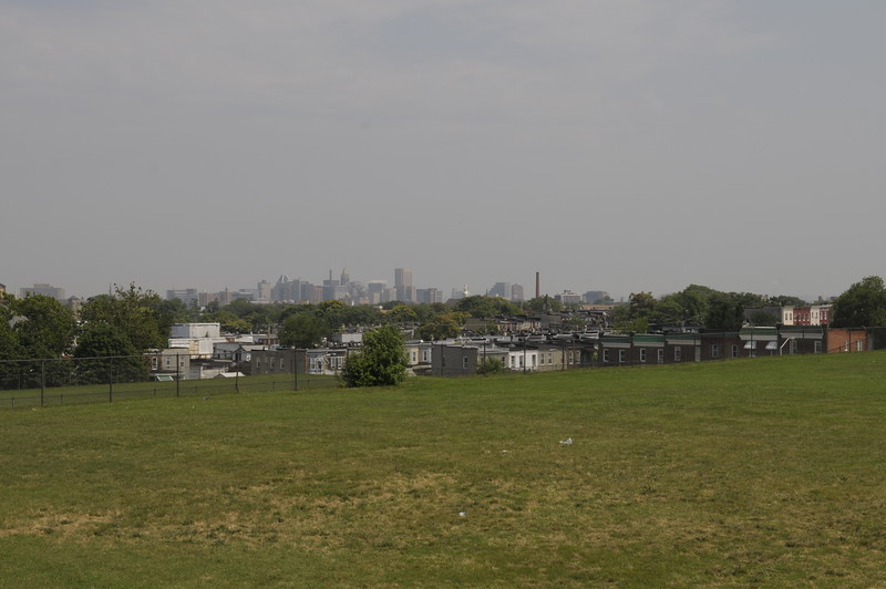 View of downtown from Frederick Douglass High School