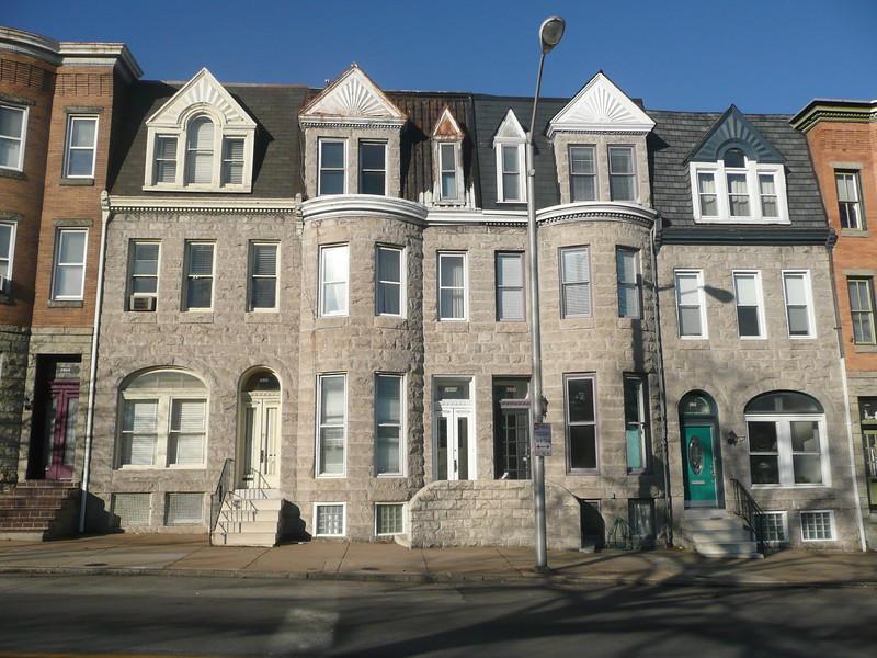 Row houses, limestone faced