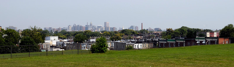 Downtown from the heights at Frederick Douglass High School