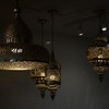 Details of Moroccan style lamps, R House Food Hall