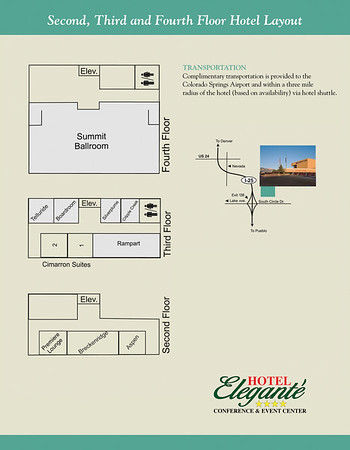 Hotel Elegante 2-4 Floor Layout