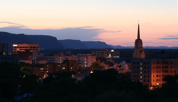 Sunset over La Crosse