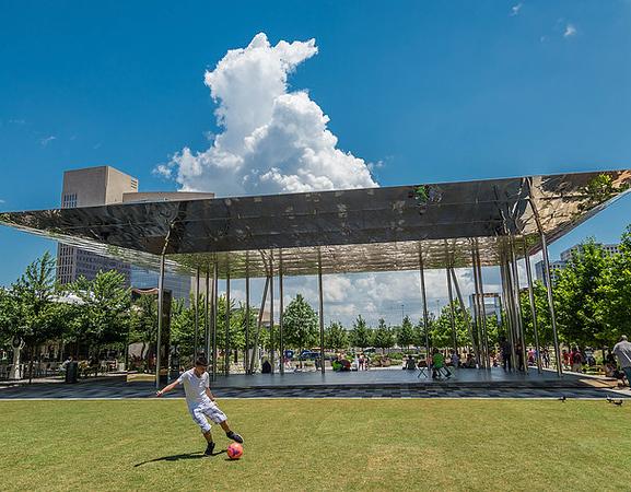 Soccer at Klyde Warren Park