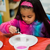 Giomari Mercado, 8, takes part in the STEAM event at MOC Head Start Hosmer in Fitchburg on Wednesday, April 26, 2017. SENTINEL & ENTERPRISE / Ashley Green
