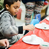 Giovanni Mercado, 8, takes part in the STEAM event at MOC Head Start Hosmer in Fitchburg on Wednesday, April 26, 2017. SENTINEL & ENTERPRISE / Ashley Green
