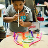 Jesus Cartegena, 5, takes part in the STEAM event at MOC Head Start Hosmer in Fitchburg on Wednesday, April 26, 2017. SENTINEL & ENTERPRISE / Ashley Green