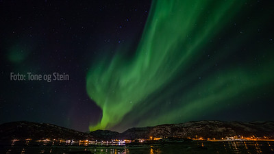 Aurora borealis, Nordlys, Brensholmen, Tromsø, Norway