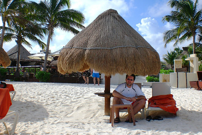 Beach -2 Enjoying in the shade of the palapa...