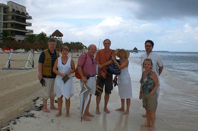 Beach -5 One umbrela ... eight of us...
