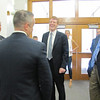 Congressman Kennedy and others share a laugh during his visit to MassBay.