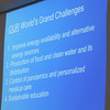 Dr. Al Sacco finished his talk with what he believes are the challenges for the current generation.