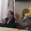Left to right: NASA Astronaut Dr. Al Sacco, guest speaker and NASA Astronaut Captain Robert Curbeam, honored guest.