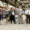 Many Listen to speakers as they addressed the crowd during the announcement of the export grant program today at Rocheleau Tool & Die Company in Fitchburg. SENTINEL & ENTERPRISE/JOHN LOVE
