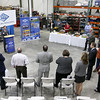 Nam Pham the assistant secretary for the Massachusetts Office of Business Development addressed the crowd during the announcement of the export grant program today at Rocheleau Tool & Die Company in Fitchburg. SENTINEL & ENTERPRISE/JOHN LOVE