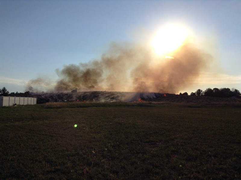 Grass fire in Country Club Hills near Club Road Tuesday, July 4, 2017. (Photo courtesy of Ryan Hanson)