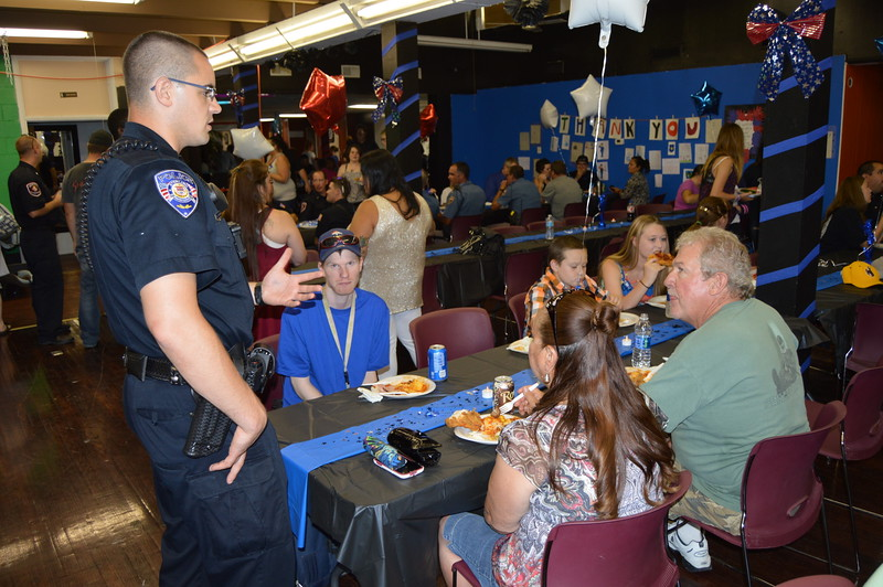 The event offered law enforcement and first responders a chance to mingle with members of the community.