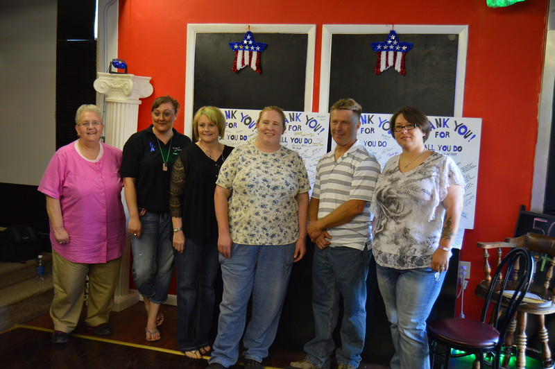 Sterling Correctional Facility employees at the appreciation event.