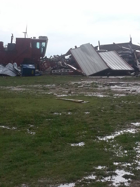 Christina Collins photo of damage caused by tornado near Peetz