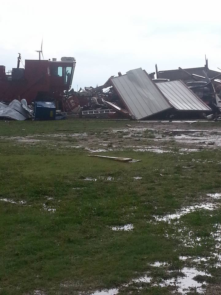 Christina Collins photo of damage caused by tornado near Peetz