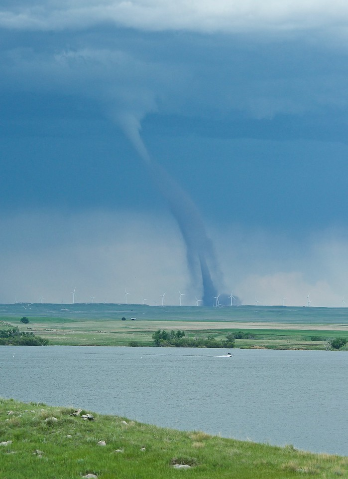 Mack Hitch photo of tornado near Peetz, seen from North Sterling State Park.