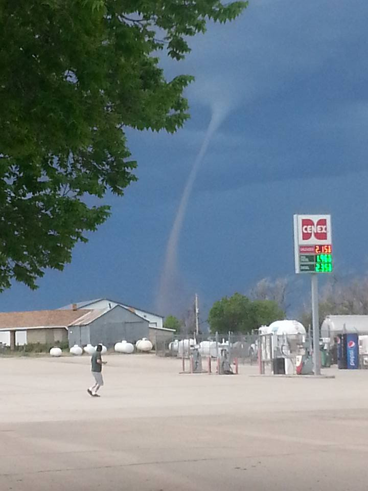 Christina Collins photo of tornado seen from Peetz