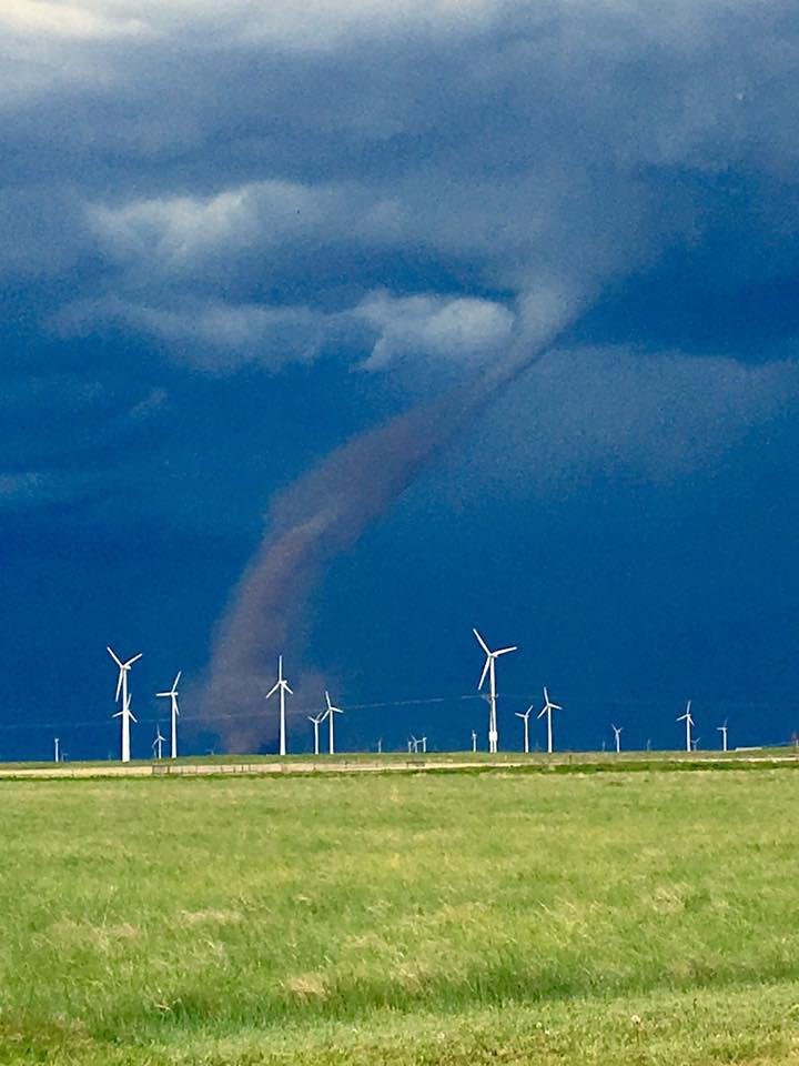 Brandee Gillham photo of tornado near Peetz