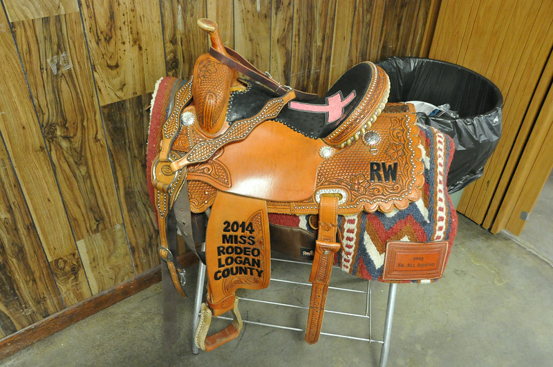 2014 Miss Rodeo Logan County Regan Wheeler's saddle was on display at the Superintendents Barbecue.