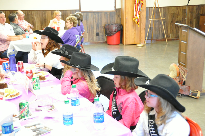 Little Misses enjoy their meal at the Superintendents Barbecue on July 31, 2014, at the Gary DeSoto Youth Center.