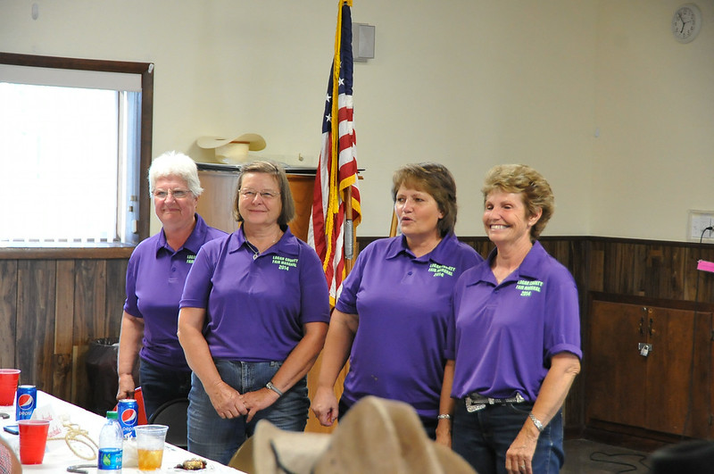 "The ""Fab 4"" 2014 Parade Marshals, from left, Marilyn Hutt, Marlene Mason, Laural Brownell and Bonnie Amen, are recognized at the Superintendents Barbecue Thursday, July 31, 2014."